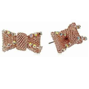Betsey Johnson Not Your Babe Bow Earrings